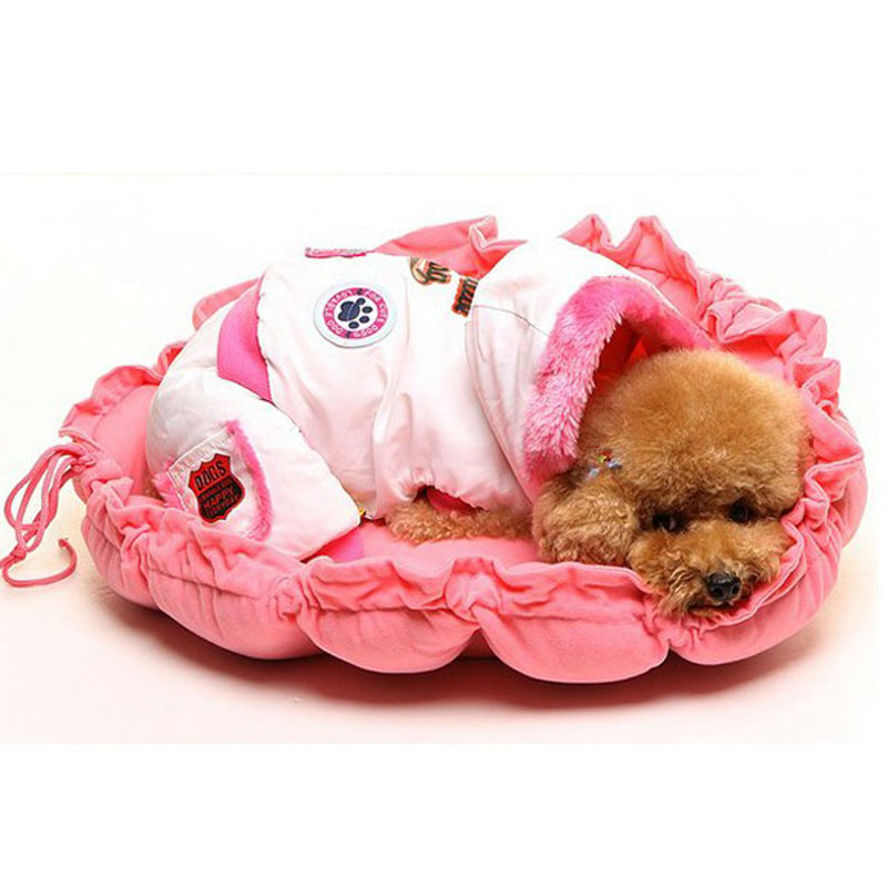 Teddy small dog kennel pet nest cotton nest nest dog sofa cushion spring and summer with a multifunctional pumpkin kennel