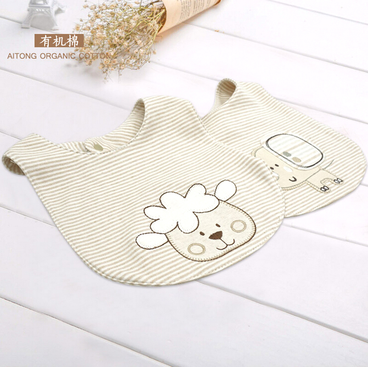 2 shipping organic cotton baby bibs newborn bib baby bibs baby bib pocket to eat rice pocket bib wai according to