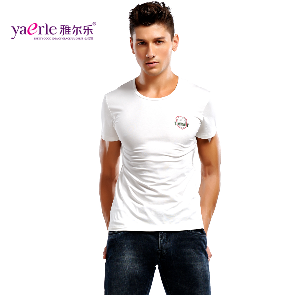 2 three mounted men's underwear modal short sleeve t-shirt slim sleeve solid color round neck tight vest bottoming undershirt
