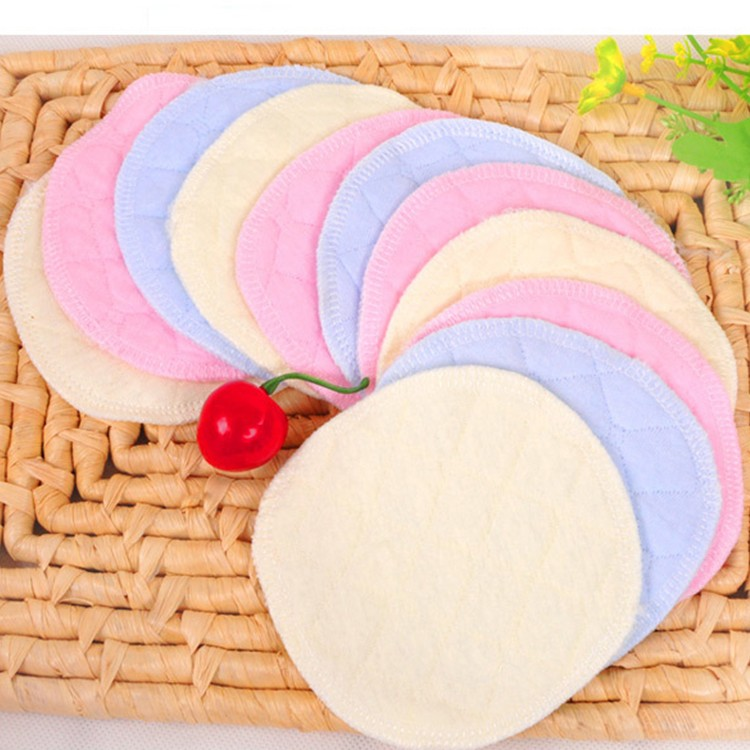 20 free shipping cotton breast pads washable cotton leak penetration thick paste of cotton nursing pads maternal yinai Pad 1 pcs