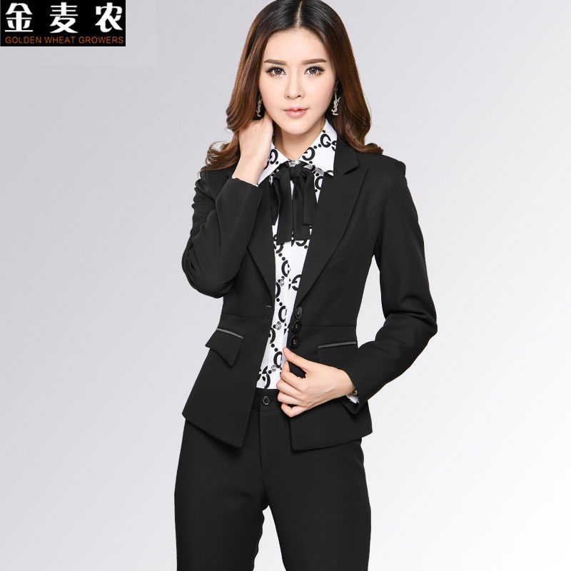 2015 new autumn ladies wear overalls suit suit ladies dress pants suit fashion