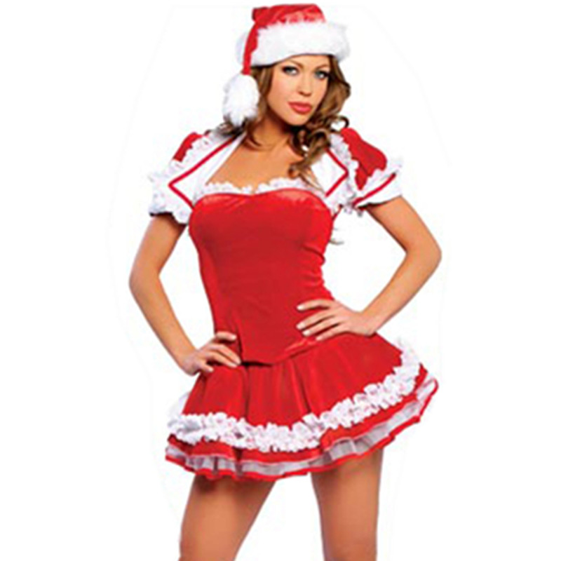 Get Quotations · 2015 new bikini red christmas dress christmas dress christmas dress split hot nightclub ds performance clothing