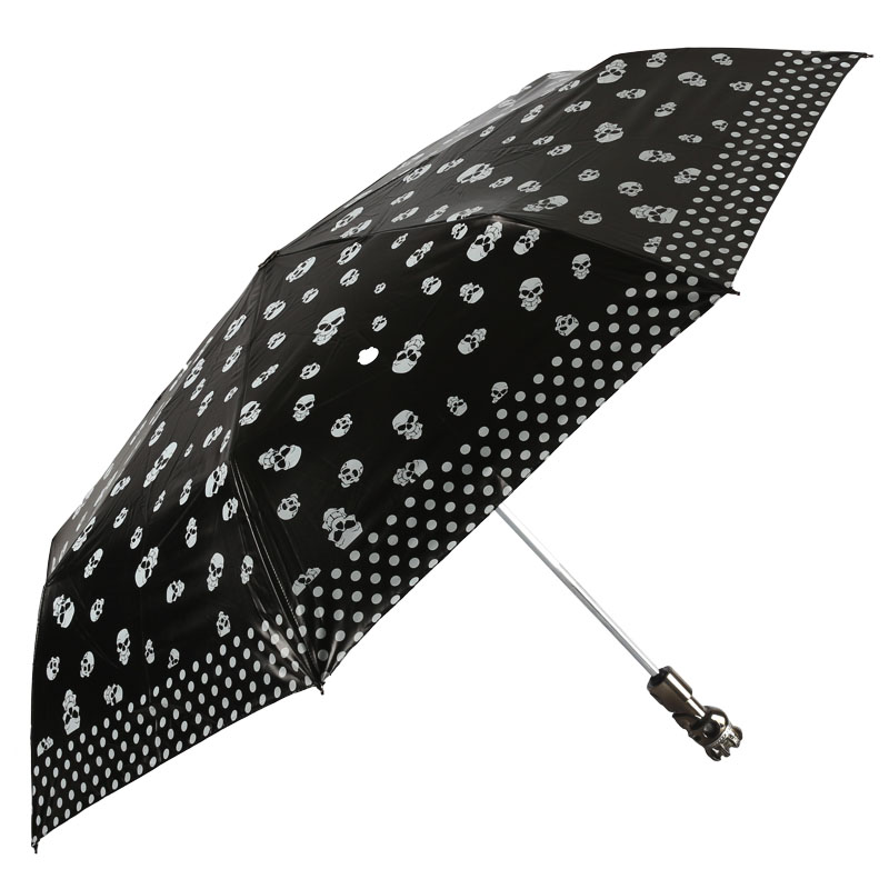 2015 new heaven umbrella black knight vinyl uv folded umbrella automatic umbrella
