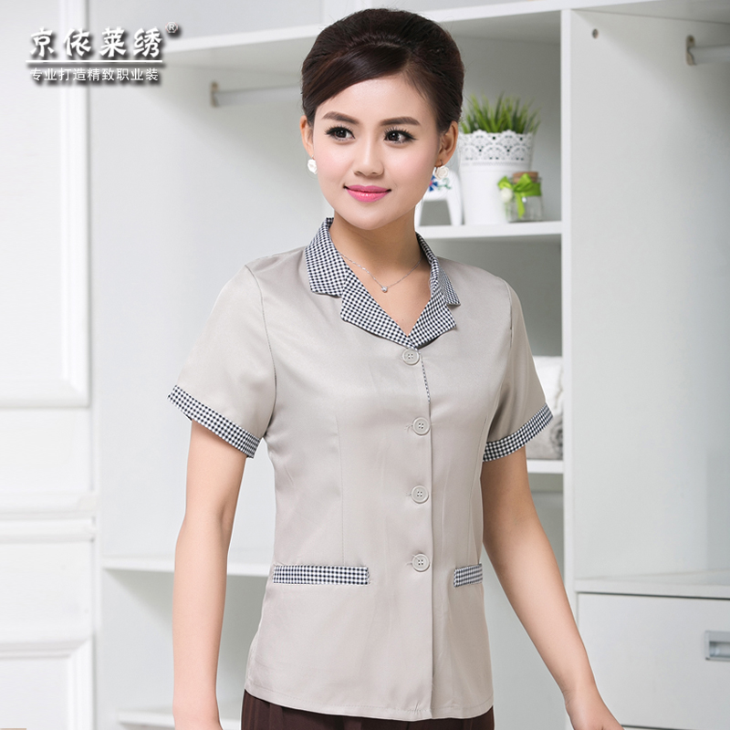 2015 new hotel uniforms hotel cleaning hotel cleaning service sleeved overalls summer clothes for men and women apron