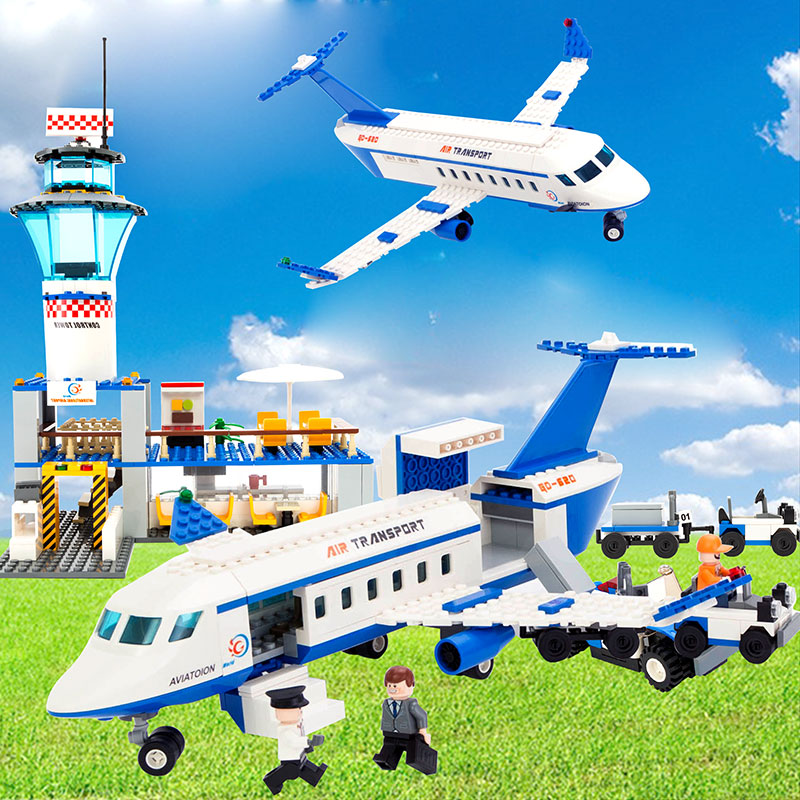 2015 new puzzle assembling the building blocks of large passenger aircraft skylounge goody building blocks assembled fight inserted toys chi yi