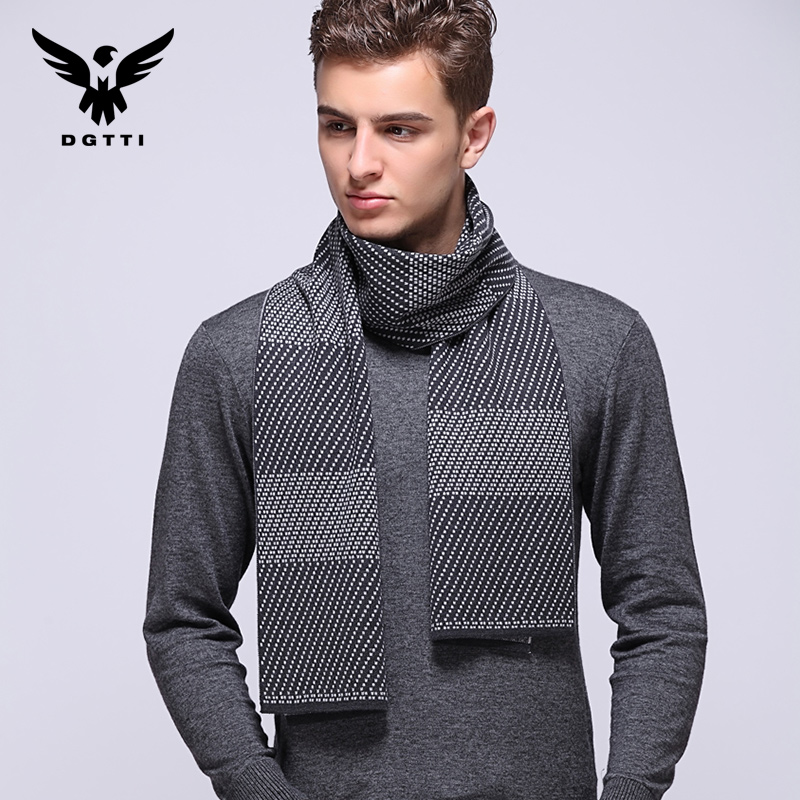 2015 new winter men's wool men's business plaid scarf cashmere scarf korean scarf scarf thick warm