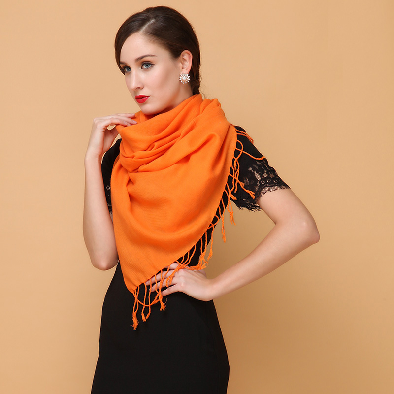 2015 spring and autumn pure wool scarf shawl ms. ms. thick winter scarves solid color scarf female winter scarf