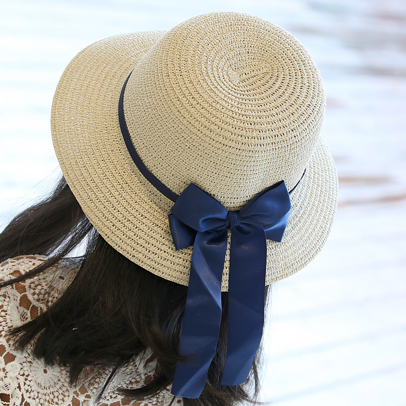 2015 summer new children's straw hat girls in children beach sun shade large brimmed hat travel hat free shipping