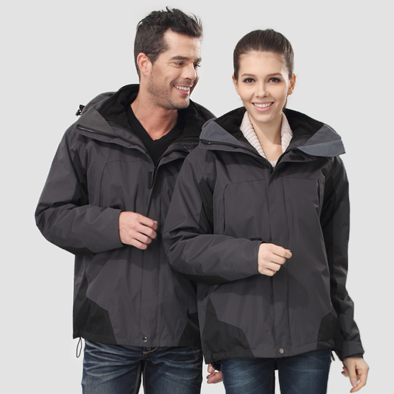 2016 autumn and winter jackets genuine male ms. warm waterproof windproof fleece liner removable piece suit big yards
