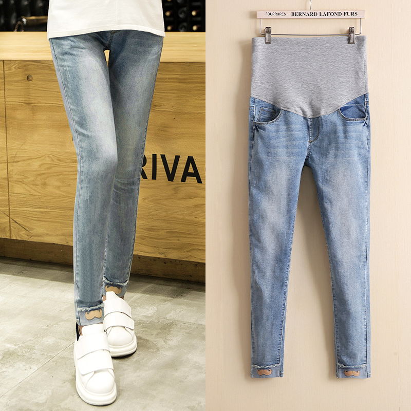 2016 autumn influx of new maternity mom small beard denim pants care of pregnant women care belly pants feet pencil pants Pants