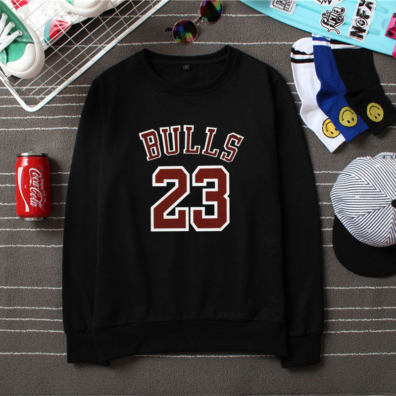 5d5db922834810 2016 autumn jordan sweater for men and women round neck thin section loose  big yards basketball