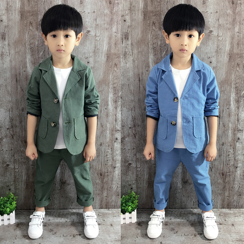 2016 autumn new korean version of the children to buy children's clothing boys suits children long sleeve cotton suit