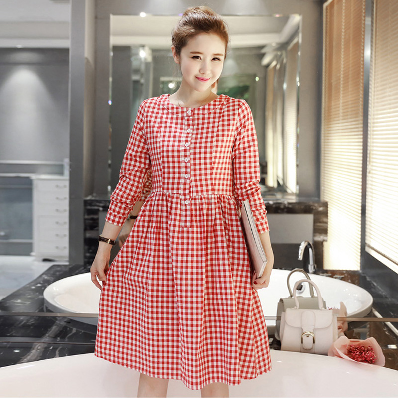 Get Quotations · 2016 autumn new maternity dress shirt autumn korean  version of the fall fashion maternity dress pregnant ea410226d478