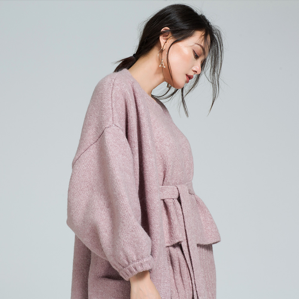 Get Quotations · 2016 autumn new women korean loose long sections mohair  knit sweater coat cardigan sweater overknee d98190ba6