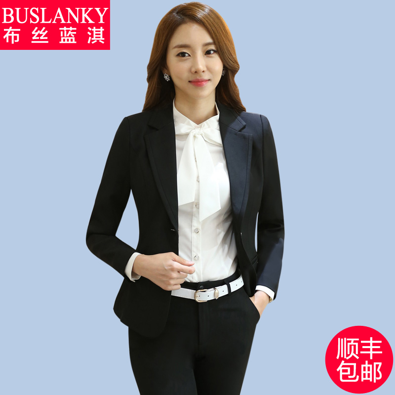 2016 autumn new women's wear business suits overalls interview dress suit small suit female tooling