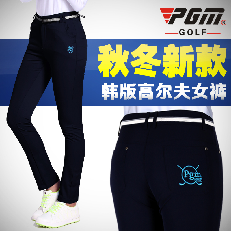 2016 autumn paragraph! send belt! ms. golf pants trousers fall and winter clothing slim high elastic shorts
