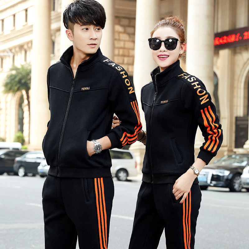 2016 fall and winter sports suit male female couple leisure suit sportswear for men and yards running step sportswear suit male