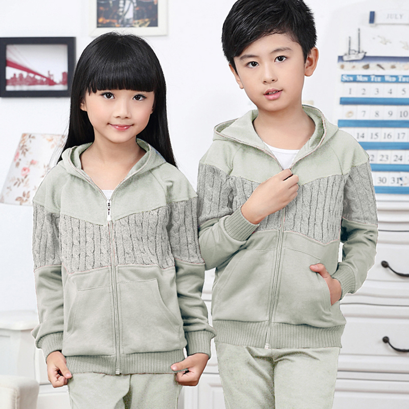 2016 family fitted spring and autumn male and female children big kids family fitted long sleeve pants suit influx of children