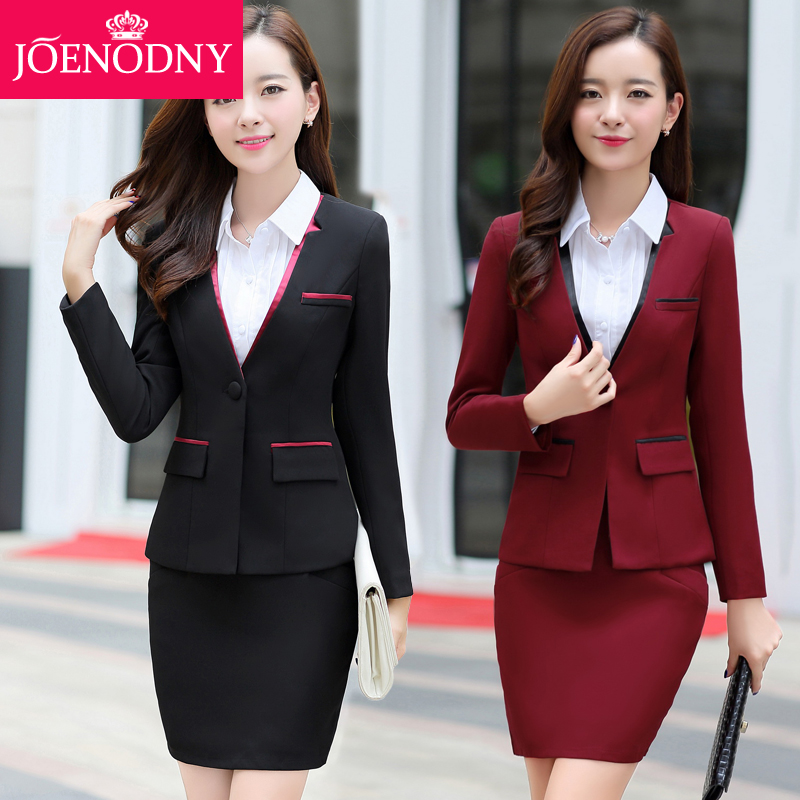 2016 hitz career skirt suits women wear ol temperament slim suits overalls interview commerce