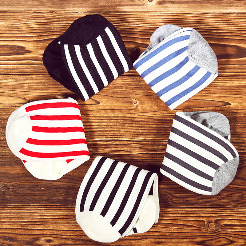 2016 japan and south korea men's summer cotton striped socks breathable absorbent cotton socks invisible socks lovers