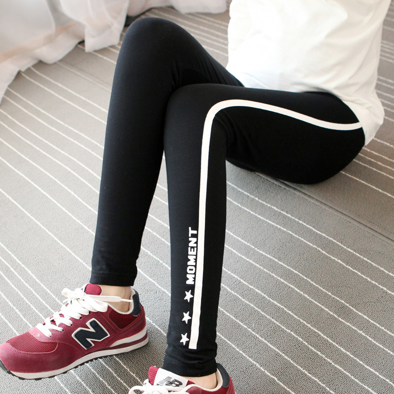 2016 korean side of the thin section of the spring and autumn new maternity pants striped leggings pregnant women pants were thin outer wear maternity