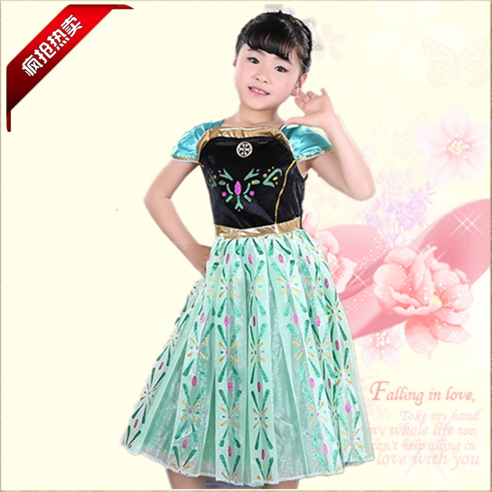get quotations 2016 korean version of anna princess dress performance clothing girls dress children dress costumes ice snow