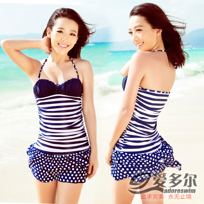 2016 love prejedor new swimsuit ms. siamese skirt swimsuit small chest steel prop gather conservative swimsuit cover the belly was thin swimsuit