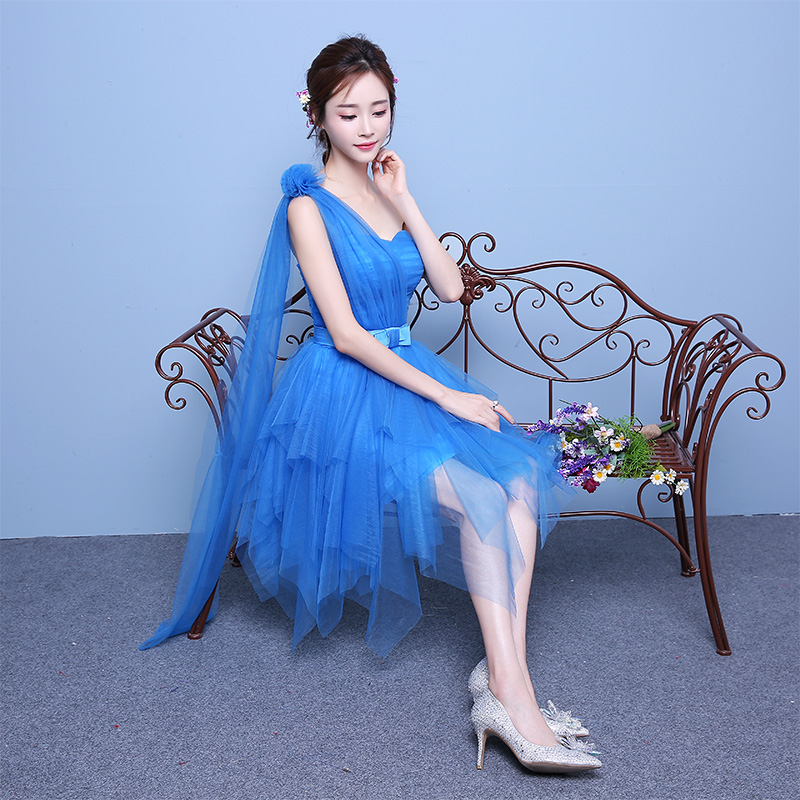 2016 new bridesmaid dress graduation dress korean summer bridesmaid dress short paragraph sister group bridesmaid dress sister skirt wedding dress