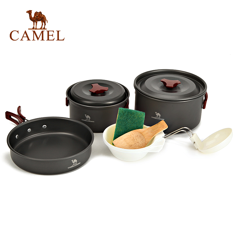 [2016 new] camel camel outdoor outdoor cookware outdoor cooking pot suitable for two or three people