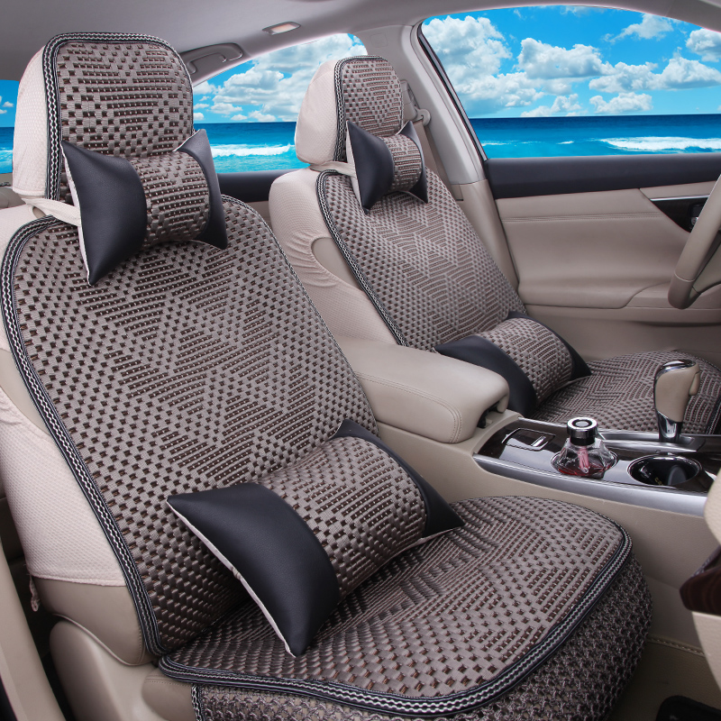 2016 new camry cruze cruz paragraph cotton summer autumn and summer ice silk car seat cover seat cover 3d seat cushion