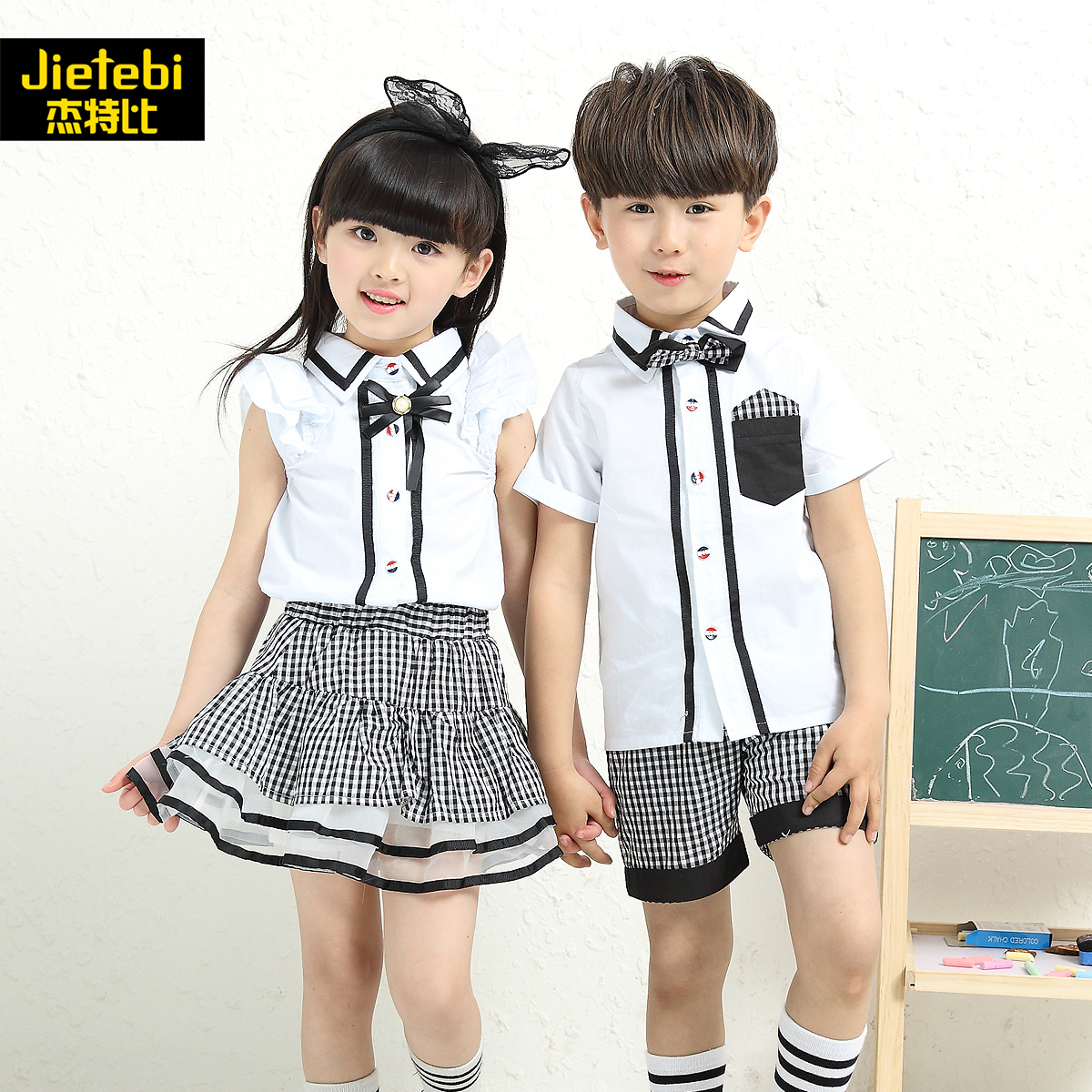 2016 new children's summer japan and south korea uniforms kindergarten classes serving students dress summer suit kids clothes