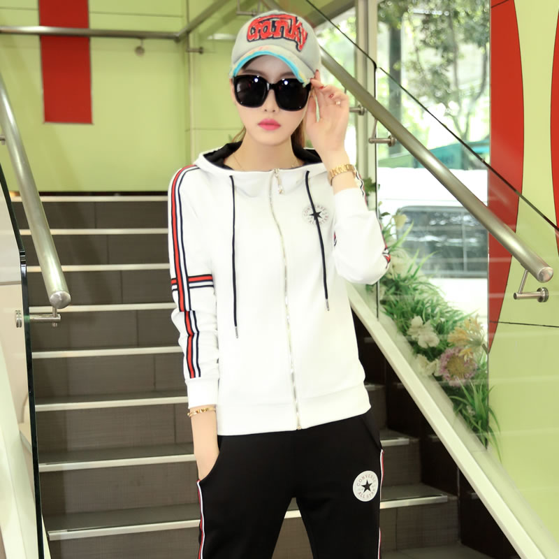 2016 new leisure suit female autumn fashion sports suit female korean autumn long sleeve sportswear suit female runners