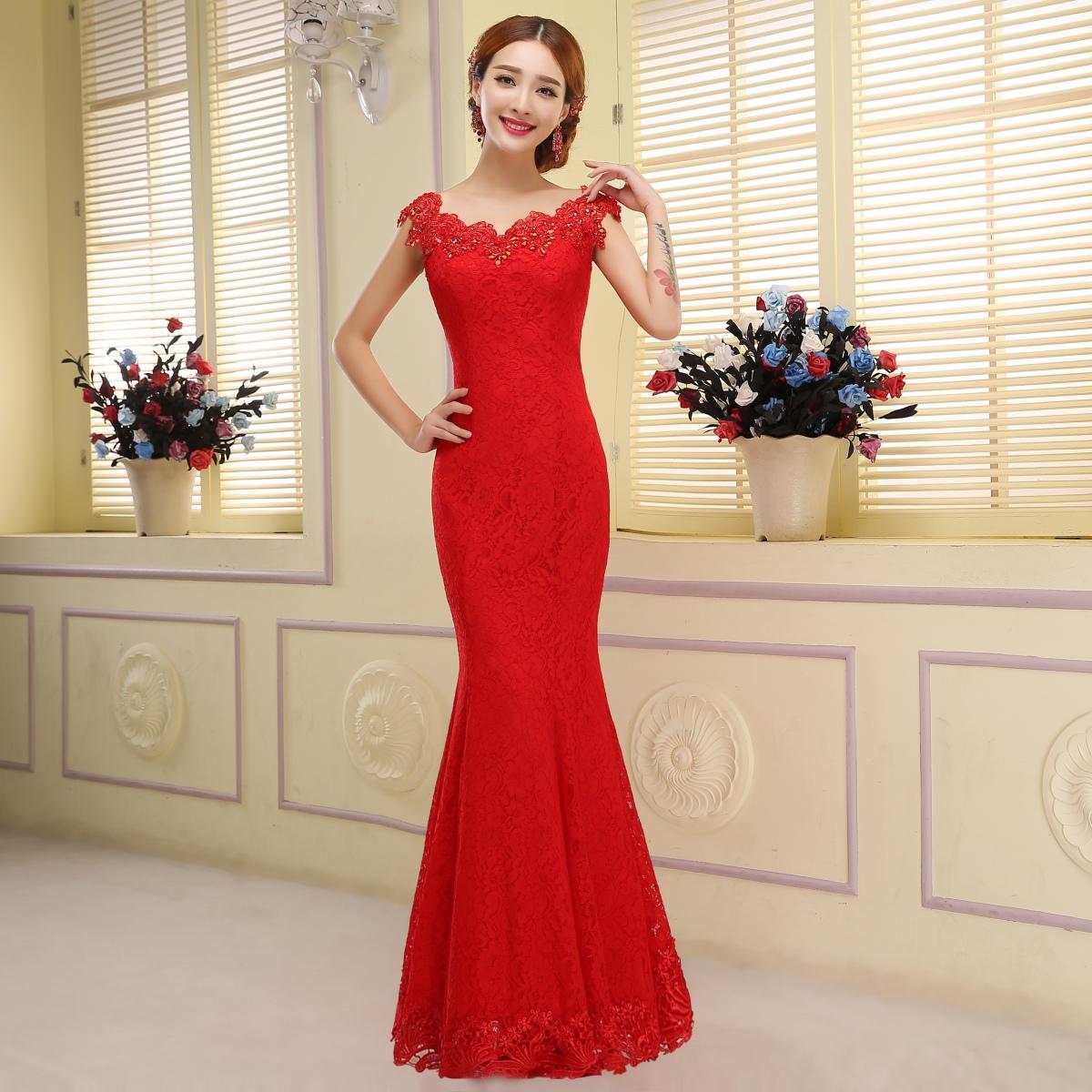 Красное платье вечернее рыбка