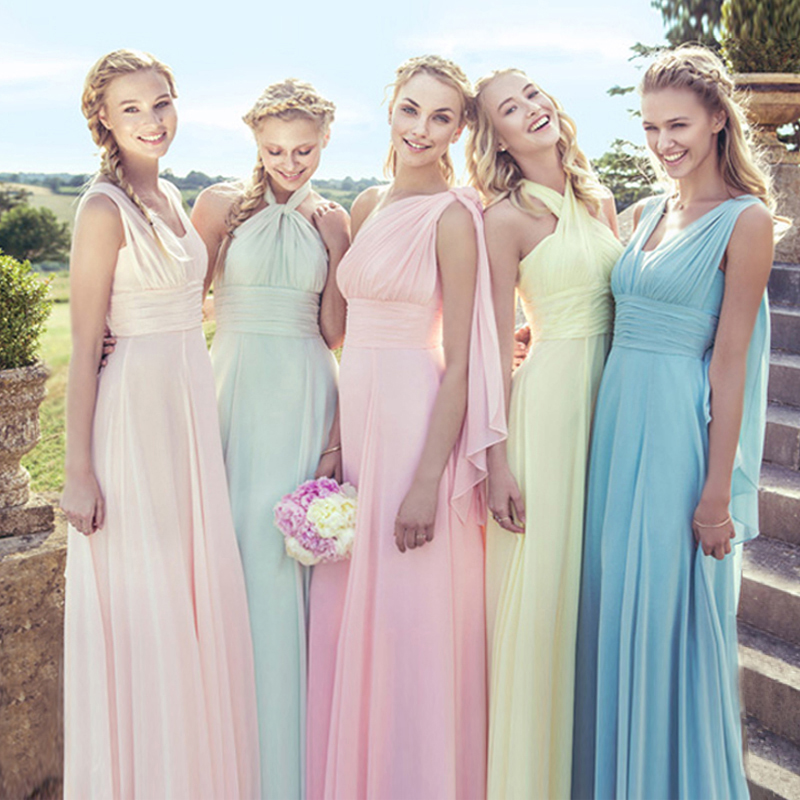 d7d4e9a091c Get Quotations · 2016 new long section sisters dress bridesmaid dress long  section of the spring bridesmaid dress slim