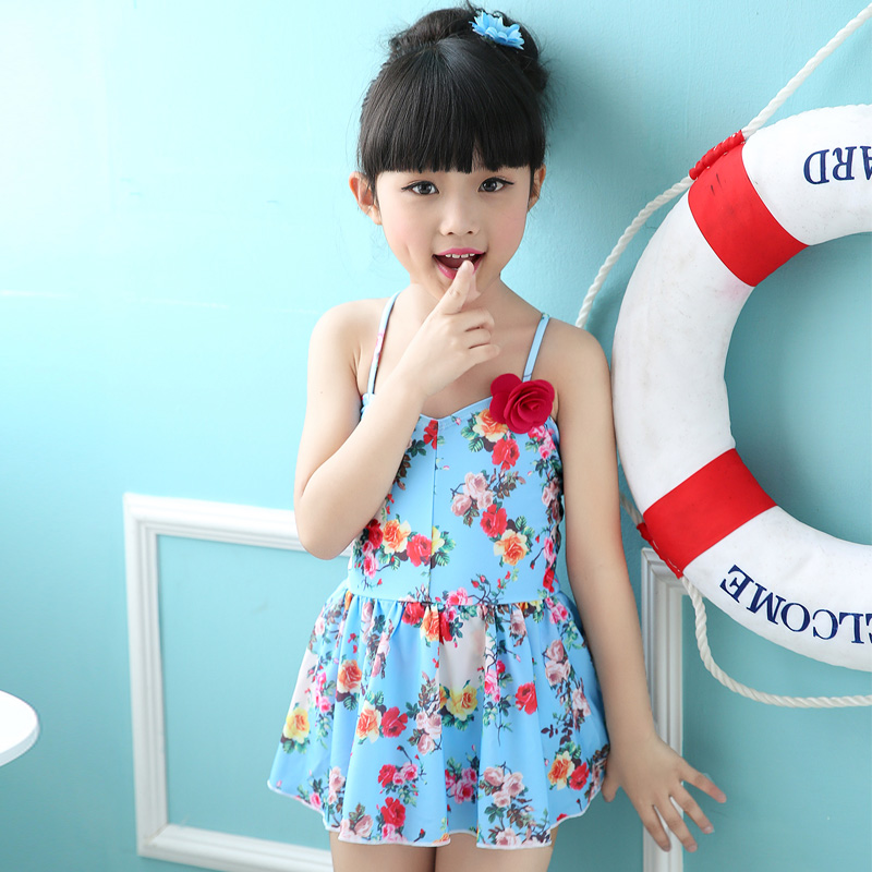 bae0a09a79adb Buy Korean cute girls wave point siamese skirt swimsuit children swimsuit  also meishan 2015 infant swim swimsuit in Cheap Price on Alibaba.com
