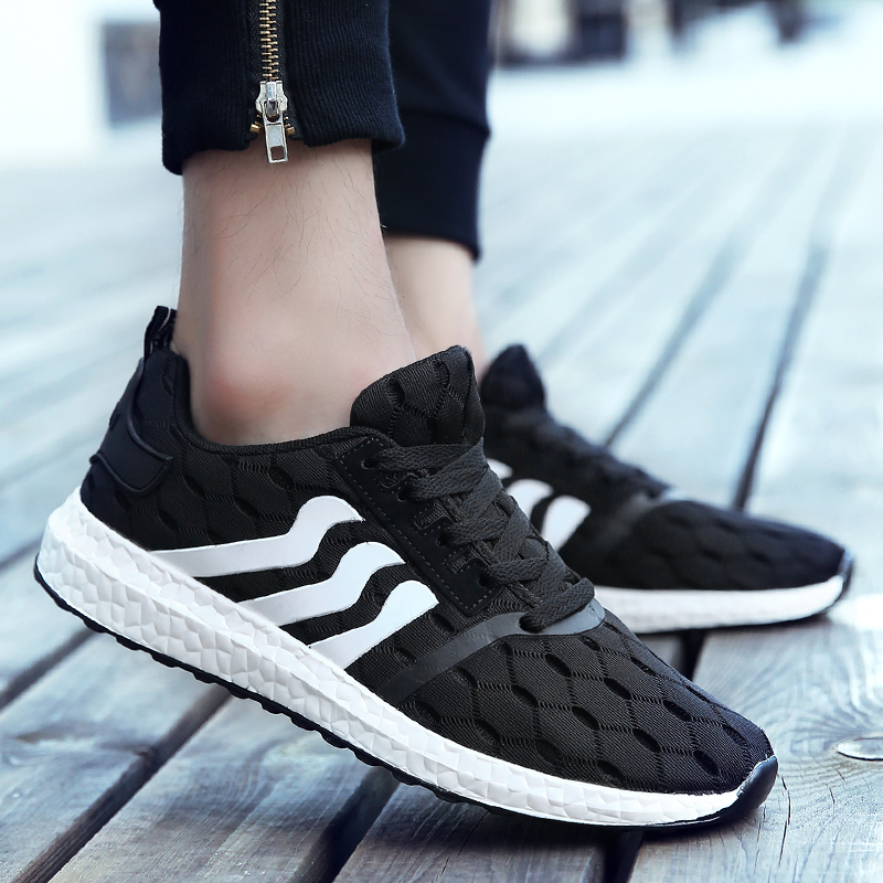 2016 new summer korean men's sports and leisure shoes summer shoes breathable mesh shoes running shoes tide students