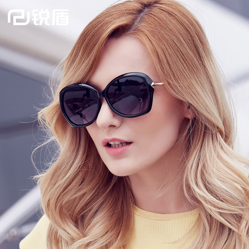 2016 new wave of elegant ladies round sunglasses polarized sunglasses eye glasses retro sunglasses fashion big box arrow head