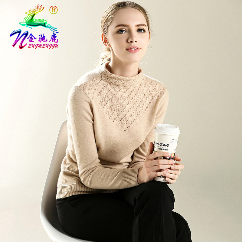 2016 new winter turtleneck cashmere sweater hedging short paragraph female freedom collar slim piles collar knit sweater bottoming