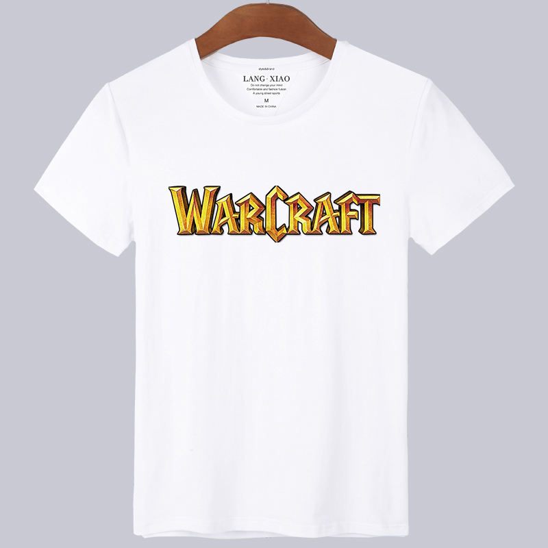 2016 new world of warcraft horde movie commemorative t-shirt men short sleeve body shirt xl loose tide