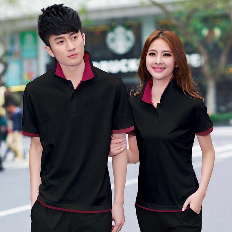 2016 spring and summer sports suit collar men women couple models trousers sportswear short sleeve casual autumn beaver