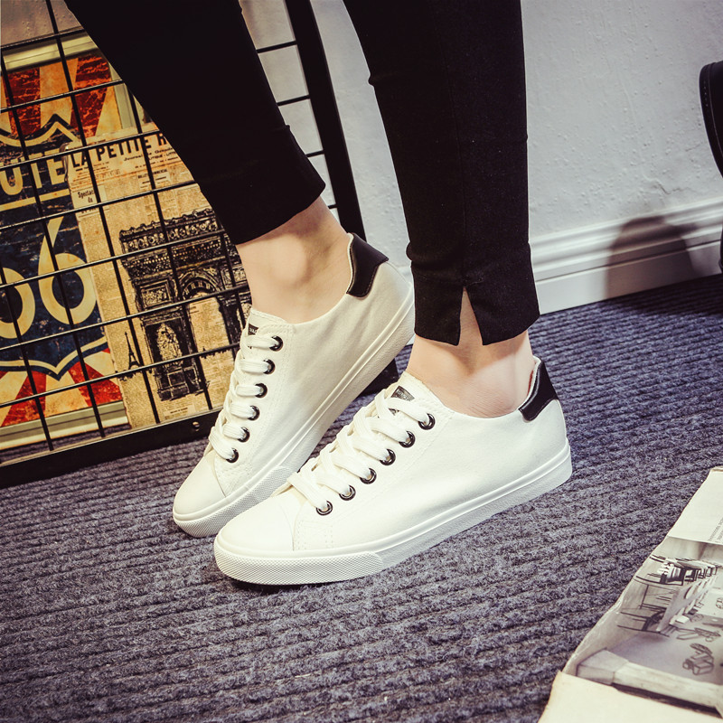 2016 spring and summer to help low canvas shoes female korean student flat casual shoes tide shoes white shoes tide shoes