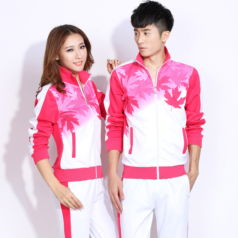 2016 spring new korean men's large size sports suit female couple sportswear shipped action suit female sportswear