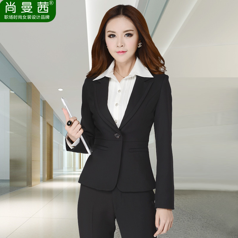 2016 spring new women wear suits ladies long sleeve dress slim suits hotel uniforms tooling