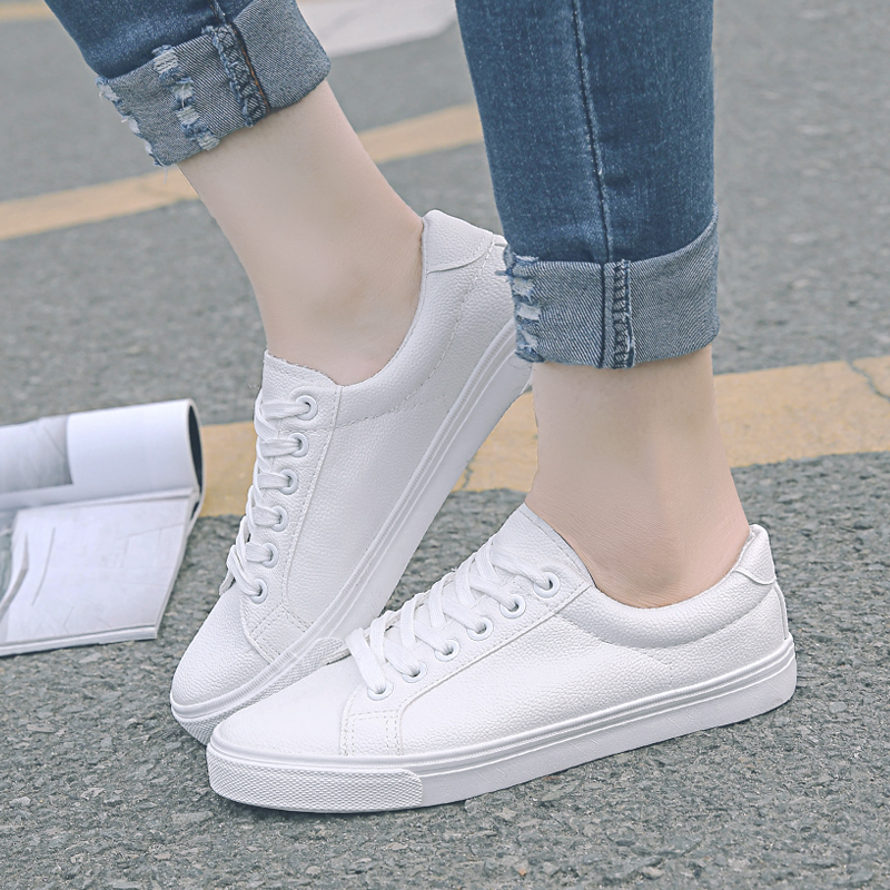2016 star with money canvas shoes female summer korean flat white shoes white lace shoes women casual shoes tide