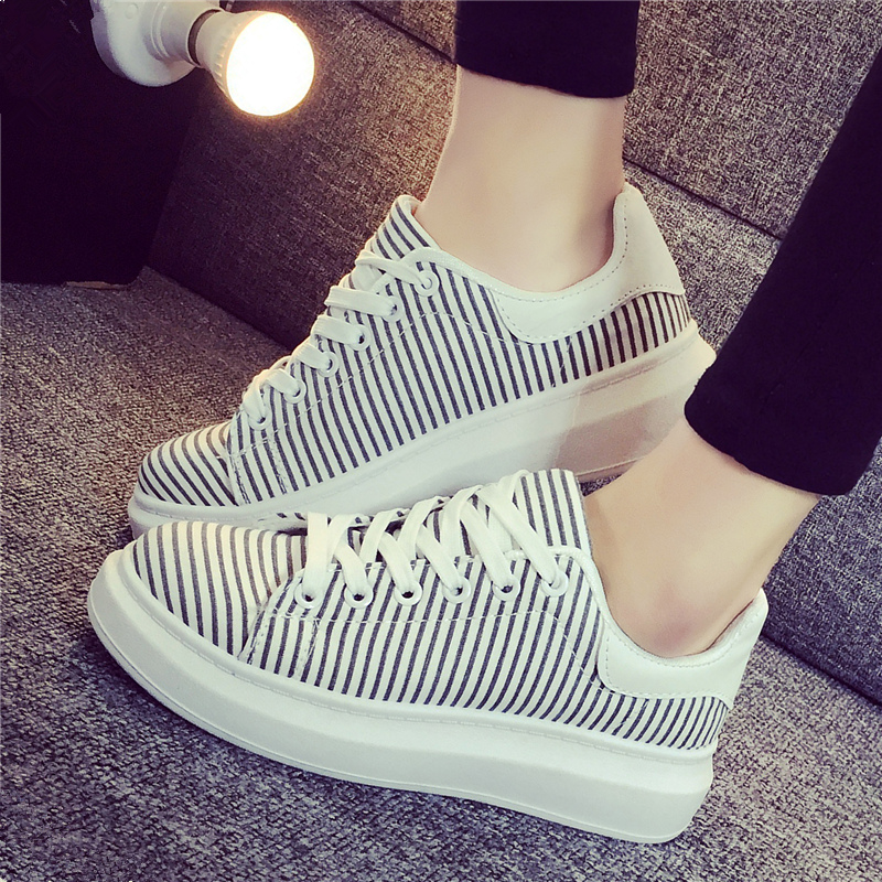2016 summer bottomed canvas shoes women shoes korean tidal student sports shoes casual shoes flat shoes platform shoes