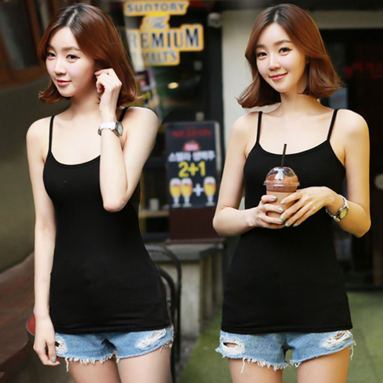 2016 summer camisole female slim was thin big yards long section of cotton solid color cotton hundred take fashion sleeveless vest