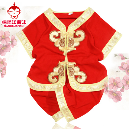 Get Quotations · 2016 summer children s costume boy boy child costume  cotton baby birthday dress suit men summer red 21d72a7ce