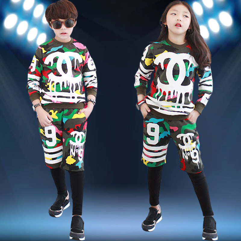 2016 summer children's performance clothing children's hip-hop hiphop hip hop jazz dance costumes dance clothing for boys and girls