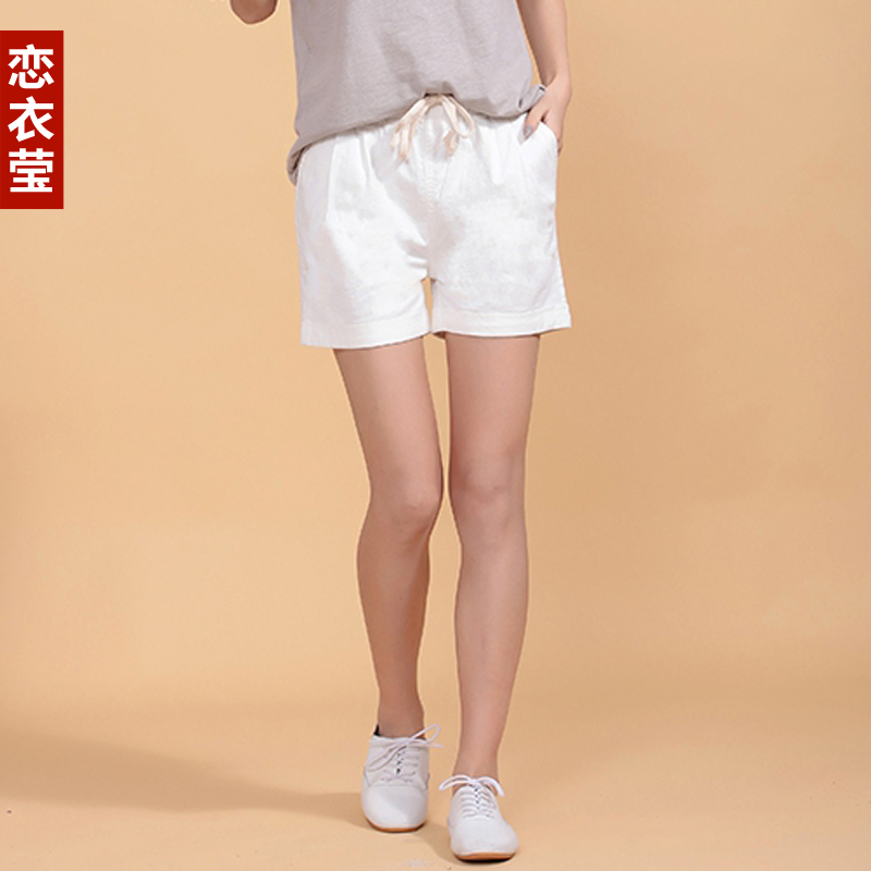 2016 summer new korean large size women loose elastic waist shorts shorts casual pants fashion wild cotton shorts