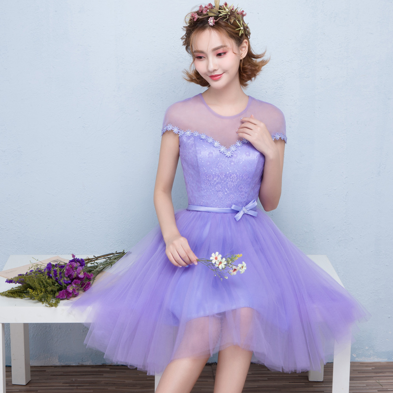 2016 summer new korean version of purple bridesmaid dress short paragraph bridesmaid dresses sister group bridesmaid dress was thin evening dress banquet female